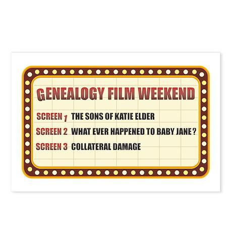 Film Weekend Postcards (Package of 8)