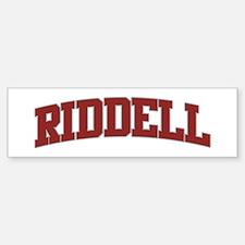 RIDDELL Design Bumper Bumper Bumper Sticker
