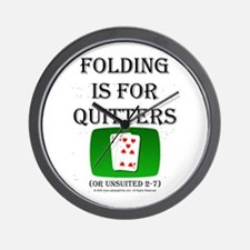 Folding is for Quitters Wall Clock