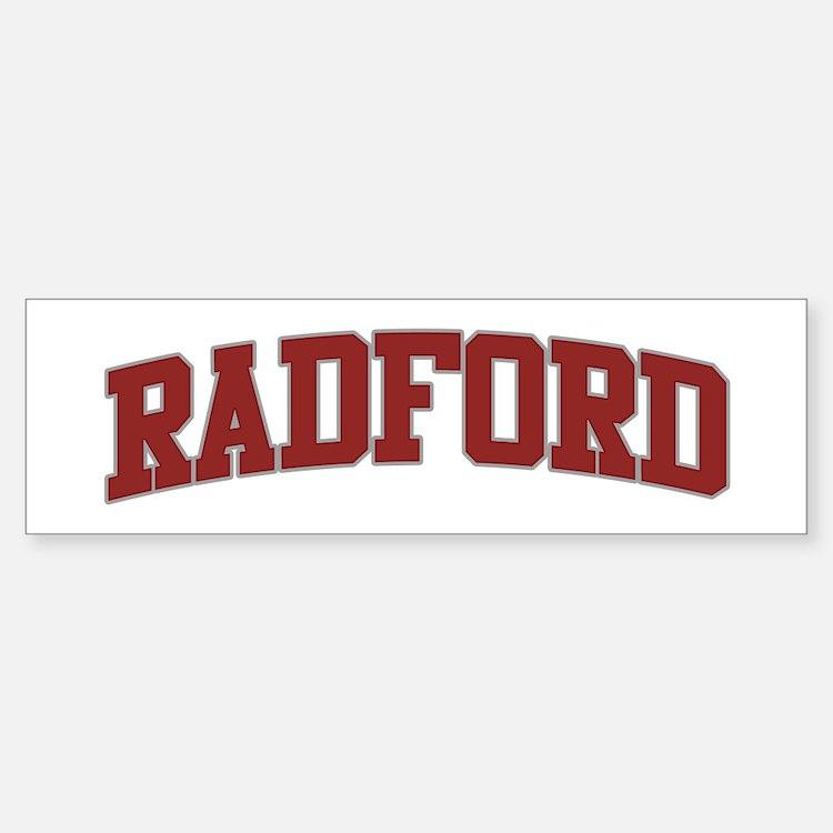 RADFORD Design Bumper Bumper Bumper Sticker