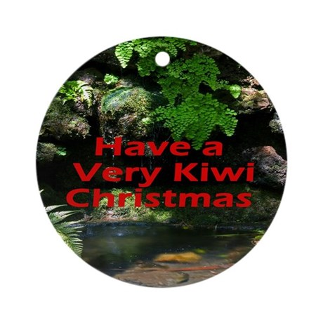 Forest Christmas Round Ornament