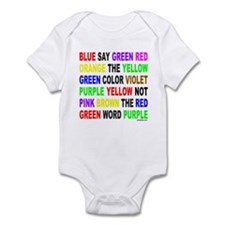 SAY THE COLOR NOT THE WORD Infant Bodysuit