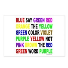 SAY THE COLOR NOT THE WORD Postcards (Package of 8