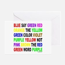 SAY THE COLOR NOT THE WORD Greeting Card