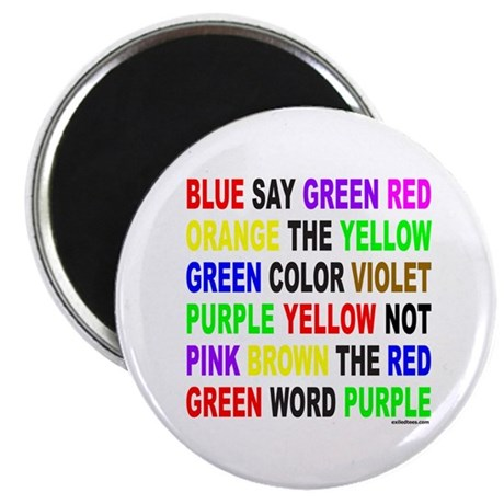 """SAY THE COLOR NOT THE WORD 2.25"""" Magnet (100 pack)"""