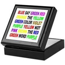 SAY THE COLOR NOT THE WORD Keepsake Box