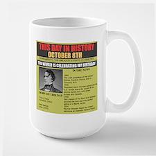 october 8th birthday Mug