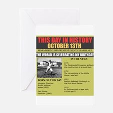 born on october 13th Greeting Card