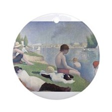 Bathers at Asnieres Ornament (Round)