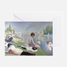 Bathers at Asnieres Greeting Card