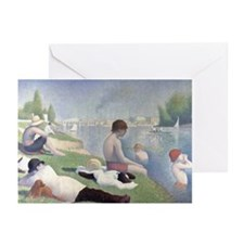 Bathers at Asnieres Greeting Cards (Pk of 20)