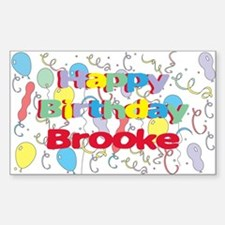 Happy Birthday Brooke Rectangle Decal