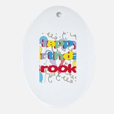 Happy Birthday Brooke Oval Ornament