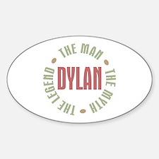 Dylan Man Myth Legend Oval Decal