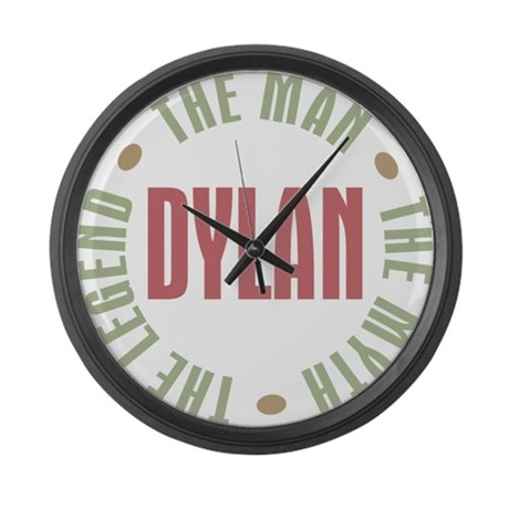 Dylan Man Myth Legend Large Wall Clock