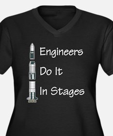 Engineer stages Women's Plus Size V-Neck Dark T-Sh