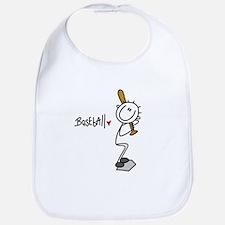 Stick Figure Baseball Bib