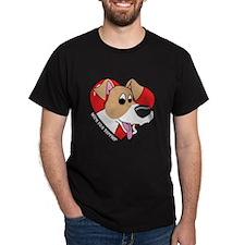 Cartoon Wire Fox Terrier Dark TShirt