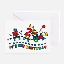 Choo Choo Second Birthday Greeting Card