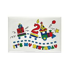 Choo Choo Second Birthday Rectangle Magnet