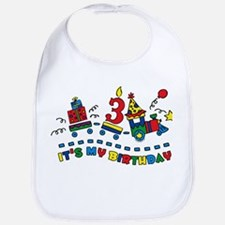 Choo Choo Third Birthday Bib