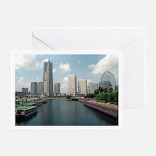 Yokohama Landmark Tower Greeting Cards (Package of