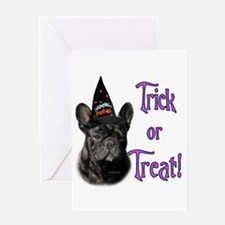 Frenchie Trick Greeting Card