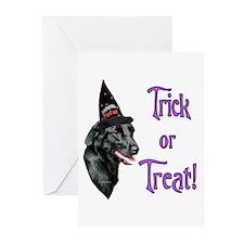 Flat Coat Trick Greeting Cards (Pk of 20)