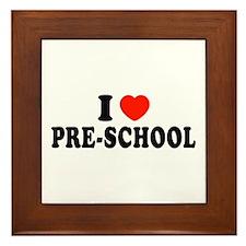 I Heart/Love Pre-School Framed Tile