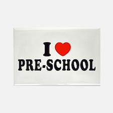 I Heart/Love Pre-School Rectangle Magnet