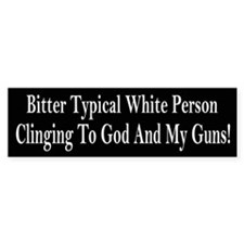 Bitter Typical White Person Bumper Car Sticker