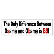 Osama OBama - BS Bumper Bumper Sticker