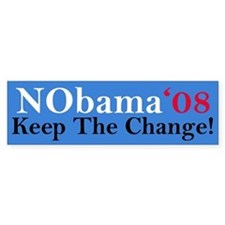 NObama'08 Bumper Bumper Sticker
