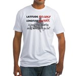Snowmbobiling Latitude/Longitude Fitted T-Shirt