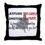 Snowmbobiling Latitude/Longitude Throw Pillow