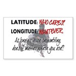 Snowmbobiling Latitude/Longitude Sticker (Rectangl