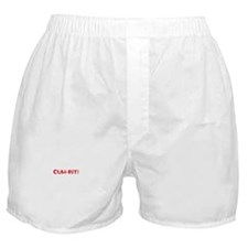 cuh-rit! red Boxer Shorts