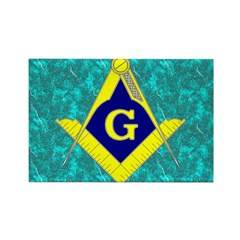 Freemasonry Rectangle Magnet (100 pack)