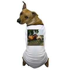 AFTM Two Horses1 Dog T-Shirt