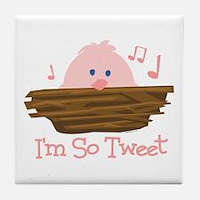 So Tweet Baby Tile Coaster