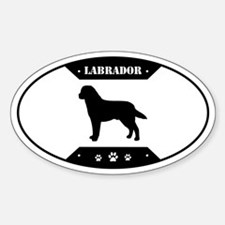 Metal Lab Sticker (Oval)