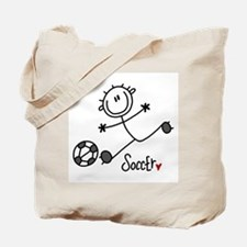 Stick Figure Soccer Tote Bag