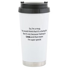 Awesome Linda Gear Ceramic Travel Mug
