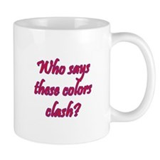 Who Says These Colors Clash? Red Hat Cat Mug