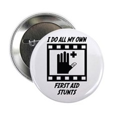 "First Aid Stunts 2.25"" Button (100 pack)"