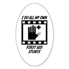 First Aid Stunts Oval Decal