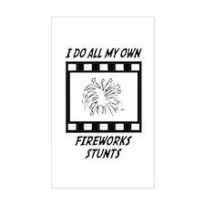 Fireworks Stunts Rectangle Decal