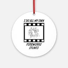 Fireworks Stunts Ornament (Round)