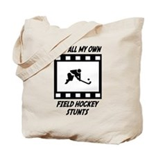 Field Hockey Stunts Tote Bag