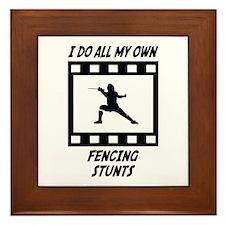 Fencing Stunts Framed Tile